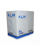 Витая пара KLM  4pair, 0.50 MM CCA INDOOR 305m CAT 5E (UTP SOLID)