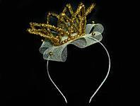 Обруч с короной золотой