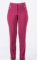 Стильные женские брюки бордового цвета