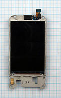 Дисплей экран LCD для Samsung GT-I7500 Galaxy with middle part+microphone+speaker