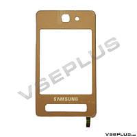Тачскрин (сенсор) Samsung F480 Touchwiz, розовый