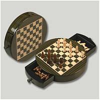 Шахматы на магните в деревянной коробке