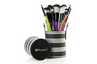 Набор кистей 10 шт в тубусе 10 pc Pop Art Brush Set BH Cosmetics Оригинал
