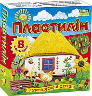 "Пластилин  8цветов ""Моя країна"" 110г Мицар"