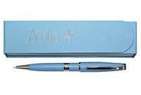 Ручка шариковая подарочная в футляре A plus А-139 голубая