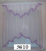 Готовые шторы, ламбрикены для кухни №10 фиолетовая Затишна оселя
