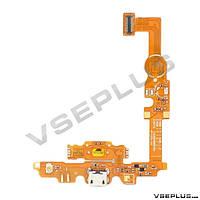 Шлейф LG E450 Optimus L5 II / E451G Optimus L5 / E460 Optimus L5 II, с разъемом на зарядку, с кнопкой меню