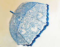 Детский зонт-трость синий ажур