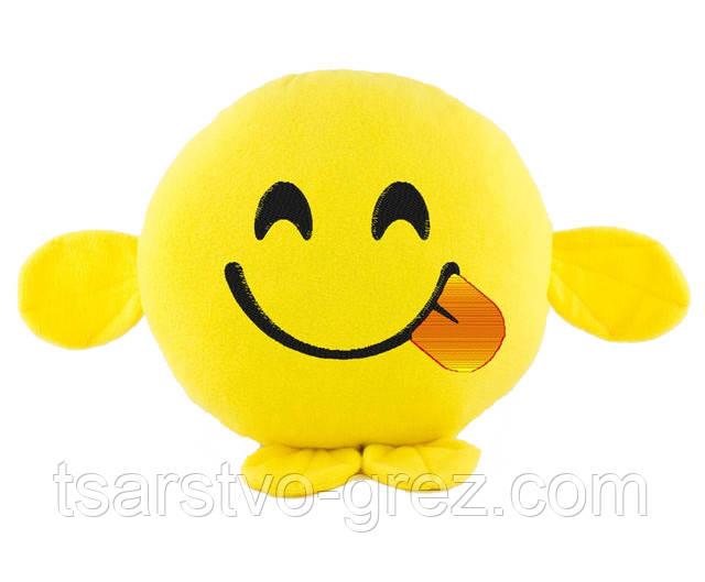 Подушка Смайлик Игривая улыбка
