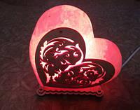 Соляная лампа Сердце поцелуй