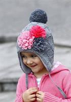 Зимняя шапка Raster Peonia для девочки, 50-52
