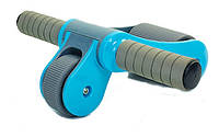 Ролик для пресса складной Abdominal Wheel голубой