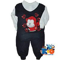 """Костюм детский """"Funny Monkey"""" , трикотажный , для детей от 6-9-12 мес"""