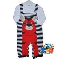 """Детский костюм-двойка """"Тигренок"""" , трикотажный , для мальчиков 6-12-18 мес"""