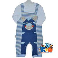 """Детский костюм-двойка """"Тигренок"""" , из трикотажа , для мальчика 6-12-18 мес"""