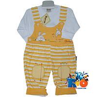 """Детский костюм-двойка """"Little Rubbits"""" , трикотажный , для детей рост 62-80 см"""