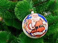 Новогодние украшения шары перламутр 10 см 6 штук