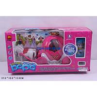 Карета для Золушки с  лошадьми детский игровой набор с мыльными пузырями 1088+5