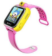 Детские умные gps часы сенсор с камерой и 3G Smart baby watch Q200 pink Гарантия 12 мес