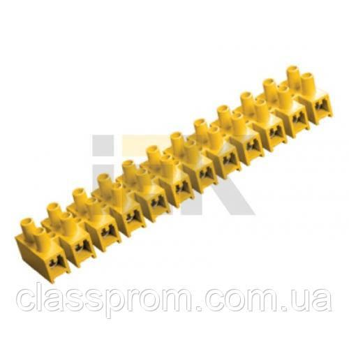 Зажим винтовой ЗВИ-60 н/г 6-16мм2 12пар IEK желтые