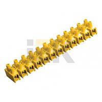 Зажим гвинтовий ЗВИ-100 н/р 10-25мм2 12пар IEK жовті
