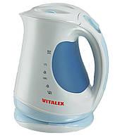 Чайник электрический Vitalex VT-2015, пластиковый, 1,7 л, съемный фильтр, 2200 Вт