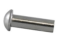 Заклепка стальная 3х10 с полукруглой головкой под молоток DIN 660 (упаковка 25 шт.)