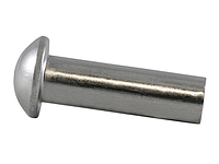Заклепка алюминиевая 2х10 с полукруглой головкой под молоток DIN 660 (упаковка 25 шт.)