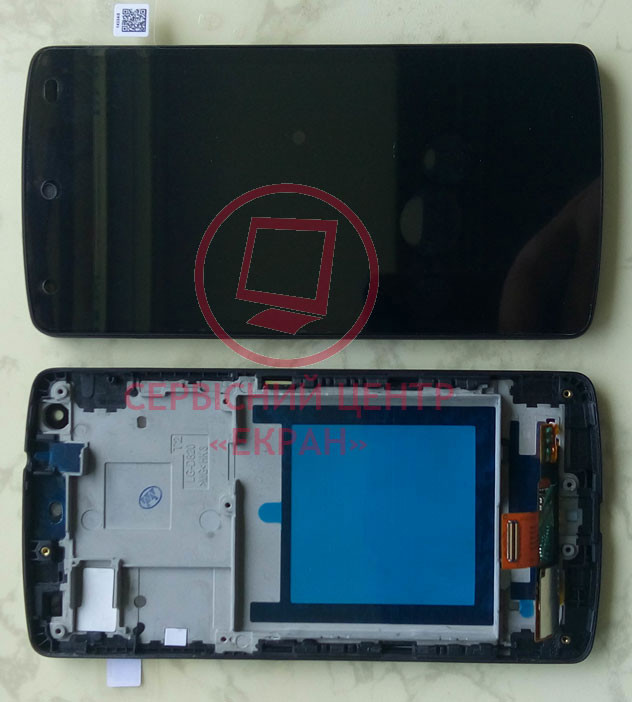 LG Nexus 5 D820 D821 D822 дисплей в зборі з тачскріном модуль з рамкою чорний