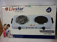 Электроплита настольная Livstar LS-4080 , 2000 Вт, 2 комфорки, защита от перегрева