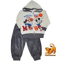 """Красивый детский костюм """"Баскетбол"""" , велюр , для мальчиков (рост 80-92 см)"""