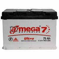 Автомобильный аккумулятор  A-MEGA 75 Ah (Амега) 75 Ач