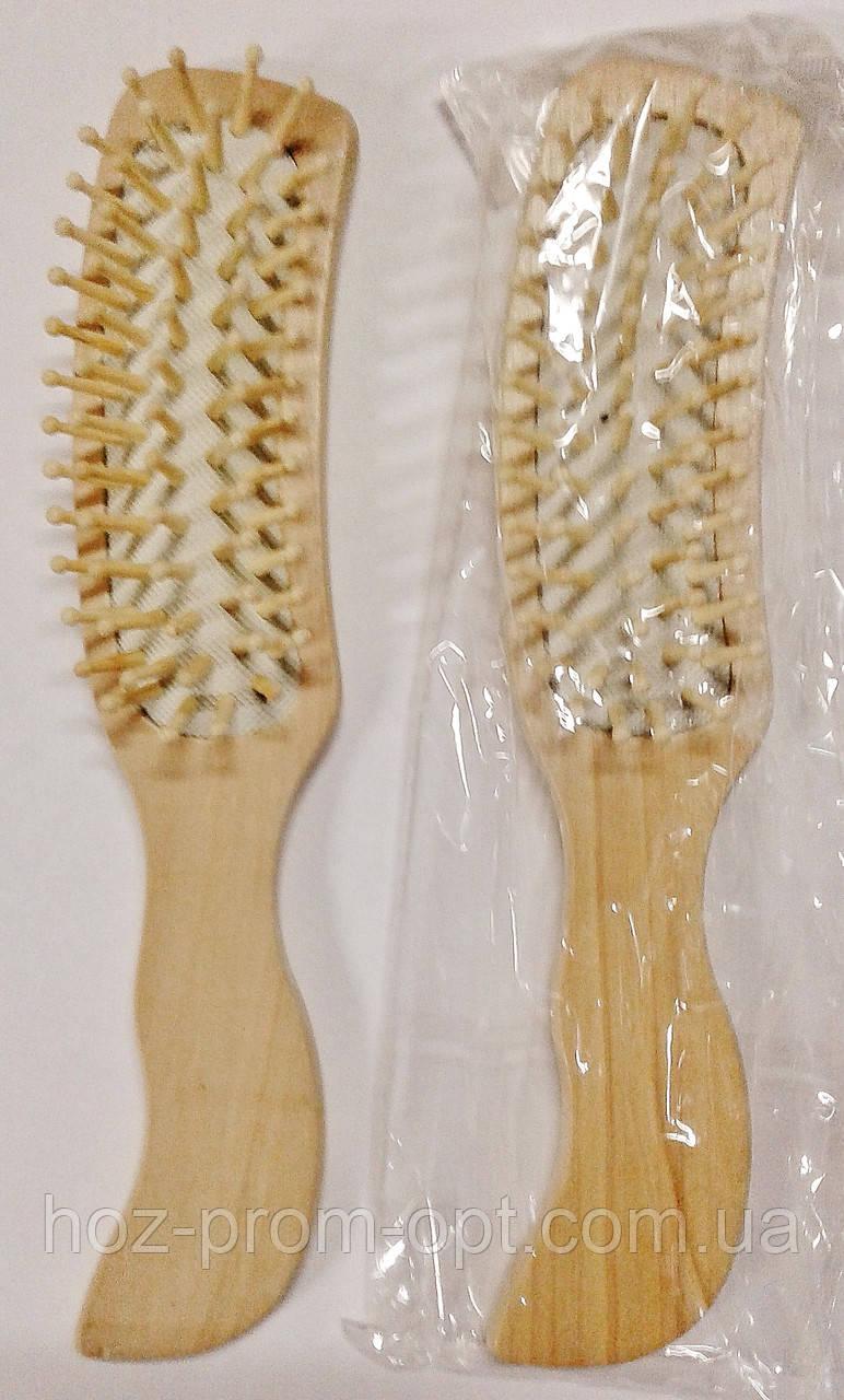 Расчёска-щётка для волос, дерево.