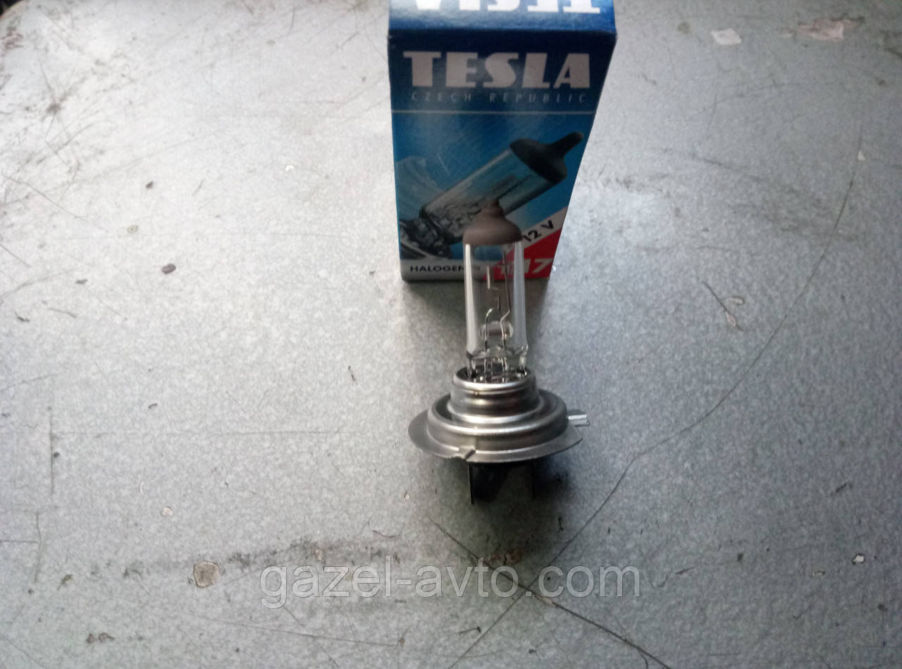 Лампа фарная (Газель, Волга ближний свет) Н7 55W Tesla