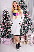 Теплое платье Мороженое р 42,44,46, фото 1