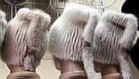 Меховая шапка  из  белой норки  на вязанной  основе, фото 9