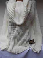 Женский свитер с горлом - хамут