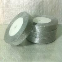 Лента парча 2,5 см - 23 м (серебро)