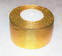 Лента парча 5 см - 23 м (золото)