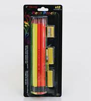 Карандаши простой с резинкой 01545 (144) 12шт в упаковке -