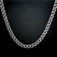 Серебряная мужская цепь, 550мм, 59,3 грамм, плетение Бисмарк
