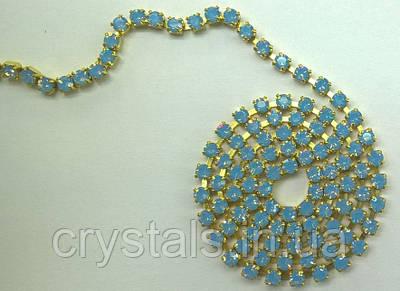 Стразовая цепь Preciosa (Чехия) Light Sapphire Opal/латунь