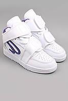 Кроссовки Ato Matsumoto белые с фиолетовым.  Обувь спортивная. Спортивная обувь.