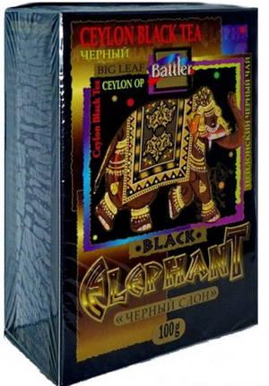 """Чай черный Battler """"Elephant Black"""" (ЧЕРНЫЙ СЛОН) 100г, фото 2"""