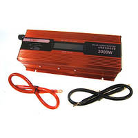 Преобразователь UKC авто инвертор 12V-220V 2000W LCD KC-2000D