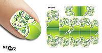 Слайдер дизайн (водная наклейка) для ногтей SF-350