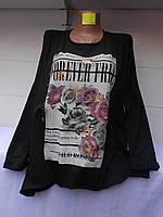 Женский свитер Розы
