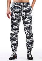 """Зимние мужские штаны карго """"Ястребь"""" вайт камо"""