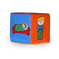 "Кубик- погремушка ""Дети"" Умная игрушка"