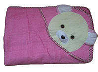 Махровое полотенце с уголком для купания Турция розовый
